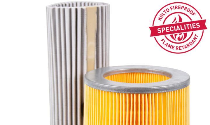 filter media flame retardants kiilto fireproof